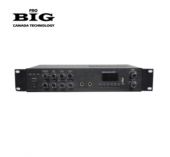 Трансляционный усилитель BIG MPA80 2zone MP3/FM/BT REMOTE