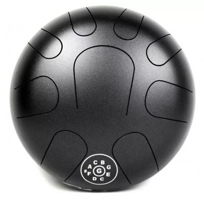 Глюкофон PALM PERCUSSION METAL TONGUE DRUM 9 LEAFS BLACK DOFF