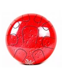 Глюкофон PALM PERCUSSION METAL TONGUE DRUM 9 LEAFS RED SPLASH