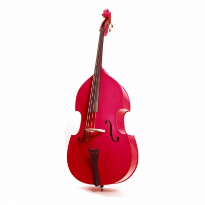 STENTOR 1950LCRD Harlequin Rockabilly Double Bass 3/4 (RED)