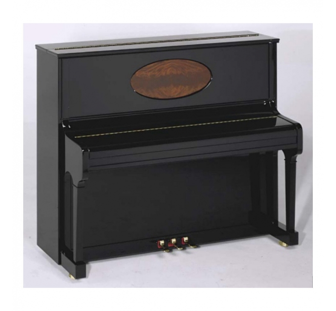 August Foerster 125 G black satin with inlay