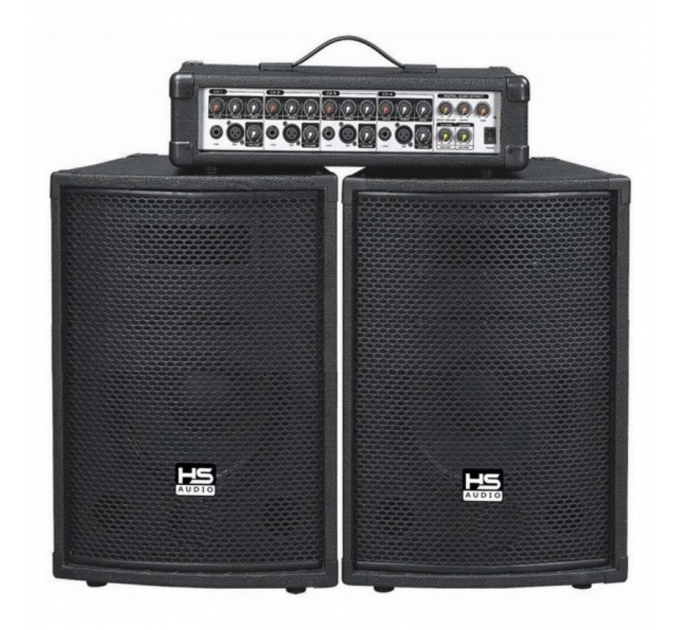 """Активная акустическая система 2.1 City Sound HP-104, 4CH mixer + 2x10"""", 100 Вт"""