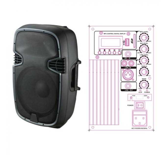 NGS PP-2110AU 10-1.5 120-240 Вт 8 Ом - активная акустическая система