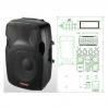 NGS PP-2915AUES-IPOD 15-3 400-600 Вт 4 Ом - активная акустическая система