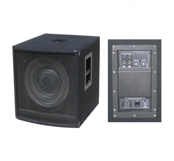 "Активный сабвуфер City Sound CSW-15BA, 15"", 600/1200 Вт, 8 Ом"