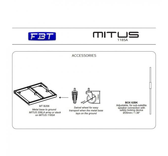 Активный сабвуфер FBT MITUS 118SA