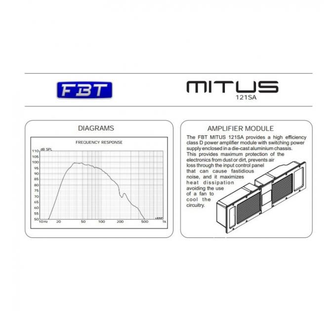 Активный сабвуфер FBT MITUS 121SA