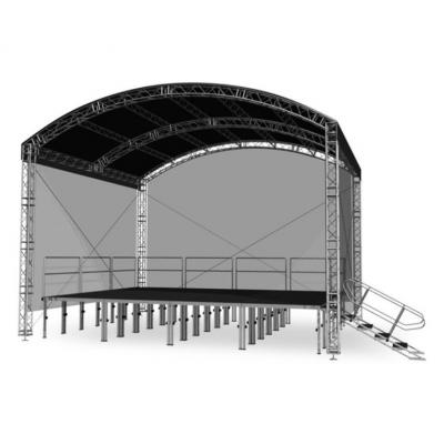 Арочная крыша Alustage ARC Light 8х6