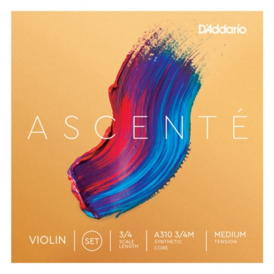 D`ADDARIO A310 3/4M Ascente Violin Strings 3/4M