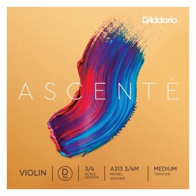 D`ADDARIO A313 3/4M Ascente Violin String D 3/4M