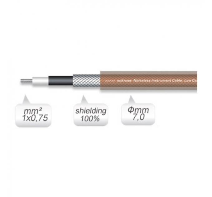 Кабель инструментальный Roxtone GC080, 1х0.75 кв. мм, вн. диаметр 7 мм, 100 м