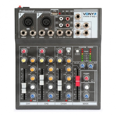 Микшерный пульт Vonyx VMM-F401 4-Channel Music Mixer