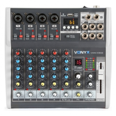 Микшерный пульт Vonyx VMM-K602 6-Channel Music Mixer with DSP