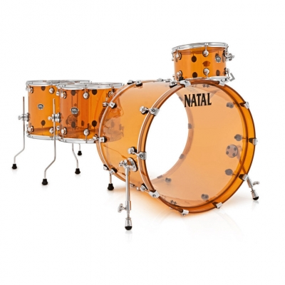 NATAL DRUMS ARCADIA ACRYLIC TRANSPARENT ORANGE Ударная установка