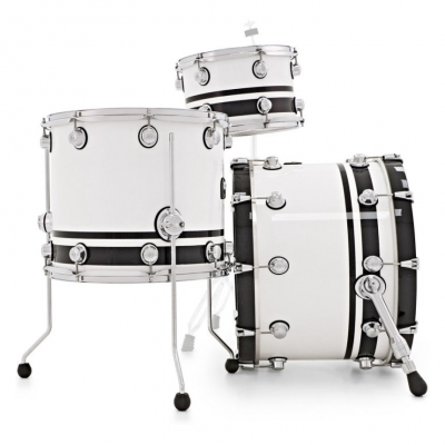 NATAL DRUMS CAFE RACER PIANO WHITE BLACK SPARKLE DOUBLE SPLIT Ударная установка