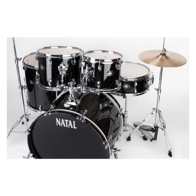NATAL DRUMS DNA ROCK DRUM KIT BLACK HARDWARE PACK Ударная установка