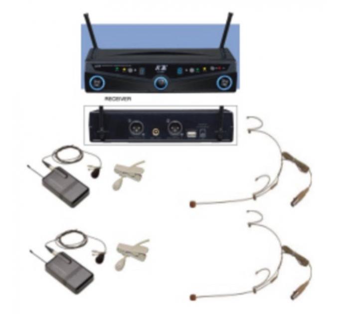 Беспроводные микрофоны BIG 2064 (два наголовных)