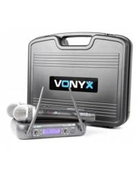 Радиосистема Vonyx WM73 2-Channel UHF Wireless Microphone System