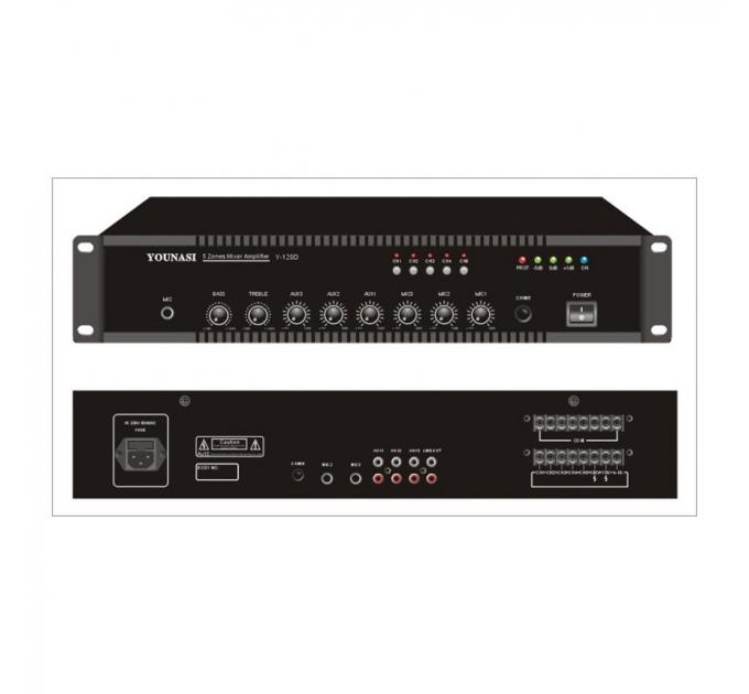 Усилитель Younasi Y-120D, 100Вт, USB, 5 zones