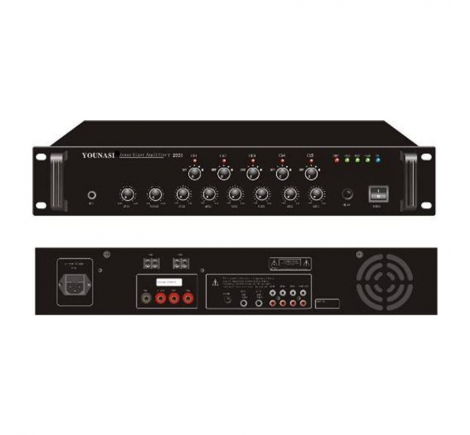 Усилитель Younasi Y-300B, 300Вт, USB, 5 zones
