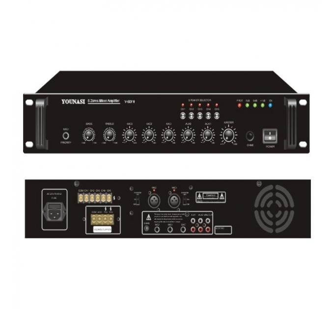 Усилитель Younasi Y-60FH, 60Вт, 5 zones, USB