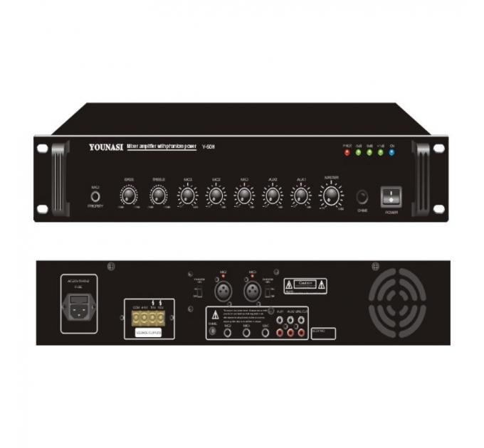 Усилитель Younasi Y-60H, 60Вт, 3 Mic, 2 Aux, USB
